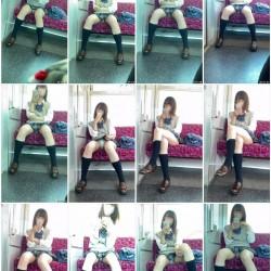 ロックオン♪電車内で対面に座った美少女J系の生パンツ見放題★ etc4作品