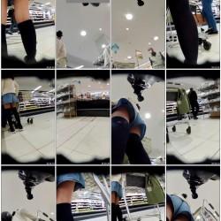 なが~いスカートの芋&メガネしぃちゃん♪靴に仕込んだカメラで☆☆ etc4本